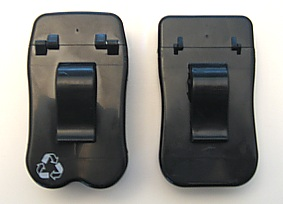No BuTTs Ashtray hinges (left)  vs the competition's hinge (right).  Which product do YOU think is going to last longer?