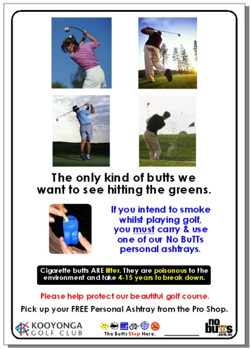 Kooyonga Golf Course's posters from No BuTTs