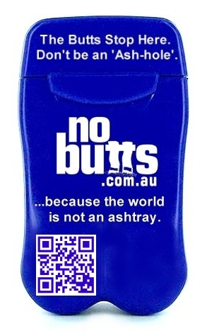 Pocket Ashtray - Blue Generic - from No BuTTs