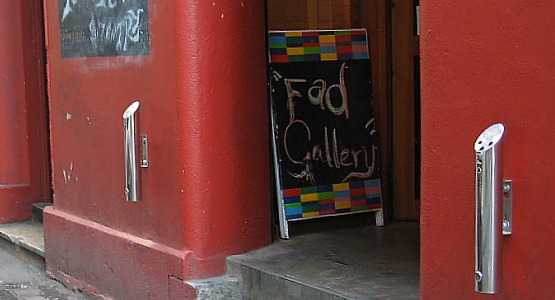 FAD Gallery & Bar's Eco-Pole Outdoor Wall-mounted Ashtrays