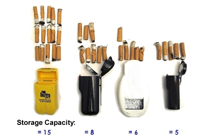 Personal Ashtrays - Butt Storage Comparisons...  (...There is no comparison!!...)