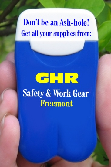 GHR Safety & Work Gear's Personal Ashtrays put a smile on their users faces every time they're seen!