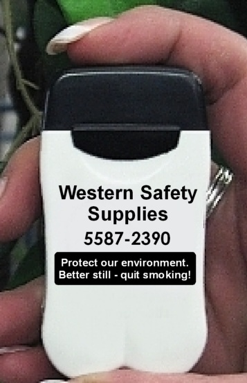 Western Safety Supplies Personal Ashtray encourages smokers to quit!