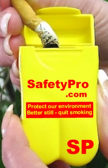 SafetyPro's Personal Ashtrays help protect our environment and visibly promote their business every time they're used!