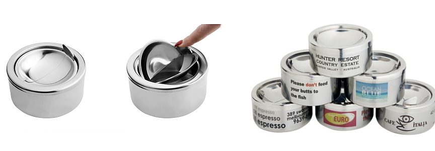 Windproof Tabletop Ashtrays - Plain & Logo Printed