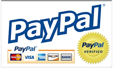 Secure Credit Card payments powered by Paypal.
