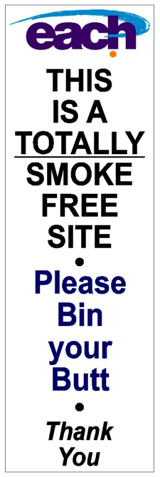Eastern Access Community Health Smoke-Free signage from No BuTTs
