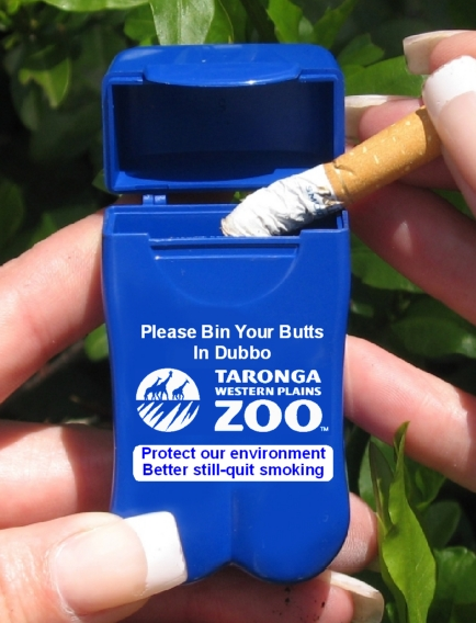 Dubbo City Council - Taronga Western Plains Zoo's new Pocket Ashtray!
