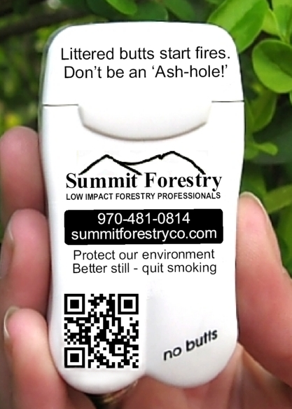 Summit Forestry of Fort Collins, Colorado's new Pocket Ashtrays