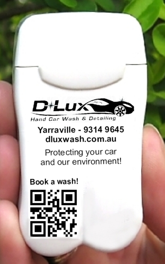 Branded Personal Ashtray from D-Lux Hand Car Wash