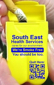 Personal Ashtray - South East Health Services