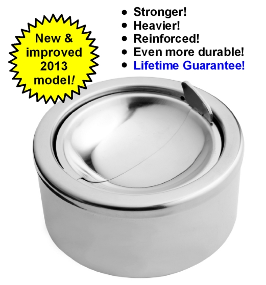 Windproof Ashtray - No BuTTs new & improved 2013 model now available!