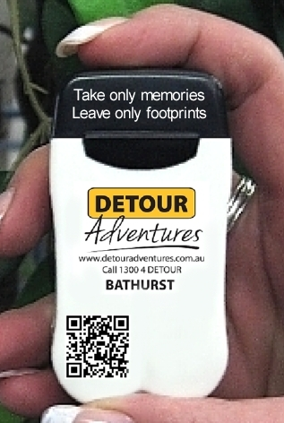 Detour Adventures complimentary Branded Personal Ashtray