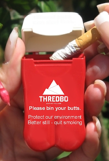 Thredbo Ski Resort's new Personal Ashtray design for 2014