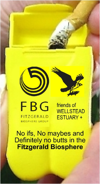 Branded Personal Ashtray - Fitzgerald Biosphere Group & Friends of Wellstead Estuary