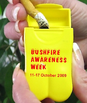 Personal Ashtray for Bushfire Awareness Week 09