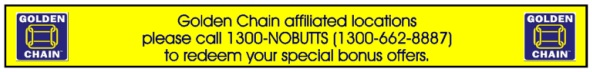Special Offers for Golden Chain affiliated locations!
