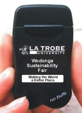 La Trobe University's latest version of their Mini-Butts Personal Ashtrays