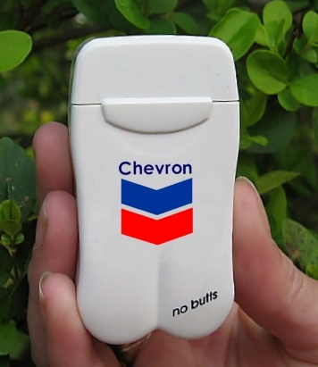 Chevron's Personal Ashtray from No BuTTs