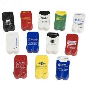 Pocket / Portable / Personal Ashtrays with Govt Dept logo printing & anti littering message