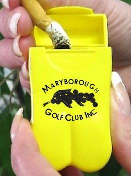 Maryborough Golf Club's Personal Ashtrays from No BuTTs
