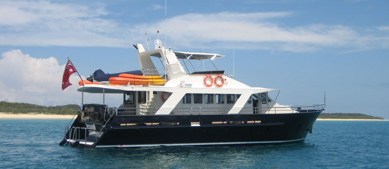 The beautiful motor yacht Descarada