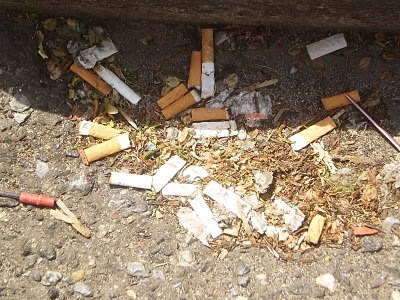 Cigarette butts damage the appearance of any location as well as the environment.