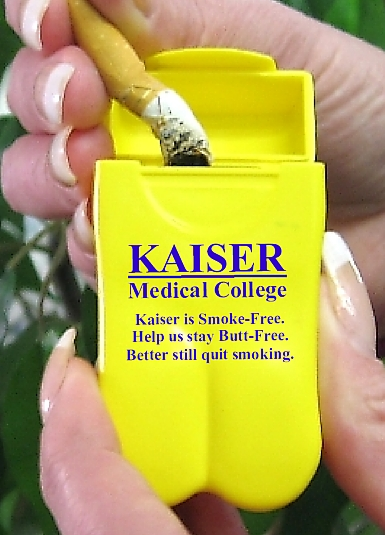 Kaiser Medical is one of over 1,000 medical facilities going Smoke-Free the right way with No BuTTs Pocket Ashtrays
