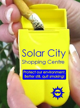 Solar City Shopping Centre's Personal Ashtrays from No BuTTs